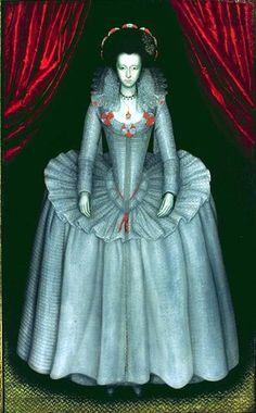 Portrait of Lady Catherine Smythe Scott ~ English School Mode Renaissance, Renaissance Clothing, Renaissance Fashion, Elizabeth Bathory, Historical Costume, Historical Clothing, Female Clothing, 16th Century Fashion, 17th Century