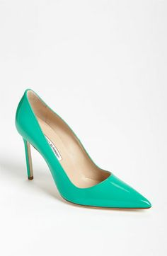 Manolo Blahnik 'BB' Pointy Toe Pump #Nordstrom  $595  Her shoe fetish is never one to be ignored! Her shoes are sure to catch everyone's eye!