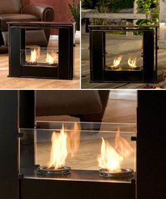 Today portable fireplaces are very popular for the various advantages. They impart a trendy and stylish look and minimize the hassles of maintaining a fireplace Industrial Interior Design, Industrial Interiors, Modern Industrial, Home Interior Design, Beautiful Houses Interior, Beautiful Homes, Loft Design, House Design, Portable Fireplace