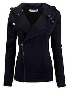 Tom's Ware Women Slim fit Zip-up Hoodie Jacket TWHD1003-BLACK-S/M