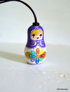 Matryoshka Russian Nesting Doll Holiday Ornament Decor Christmas Stocking Stuffer Tree Key Chain Fob Purse Handle Accent Charm Custom OOAK by thatmakemejoy on Etsy https://www.etsy.com/listing/177299970/matryoshka-russian-nesting-doll-holiday