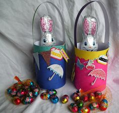 Easter basket/bucket tutorial by Debbie Buckland at Fiskars Craft