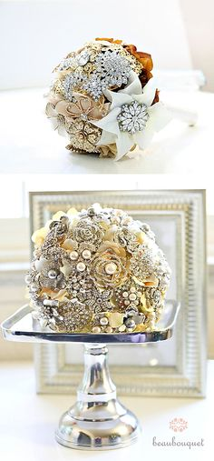 brooch bouquet....very pretty but I think the best one I've ever seen was my cousin's.