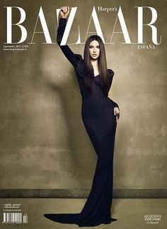 Hold on to the logo - Harper's Bazaar Spain cover