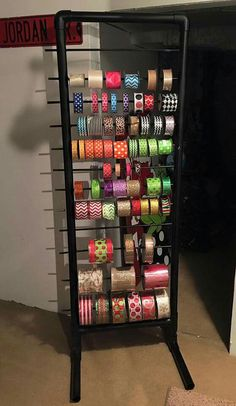 DIY Craft Room Organization Ideas for Small Spaces i Love Organizing Ribbon Organization, Ribbon Storage, Sewing Room Organization, Craft Room Storage, Organization Ideas, Storage Ideas, Paper Storage, Wood Storage, Craft Rooms