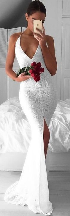 #summer #prefall #outfits | White Wedding Dress