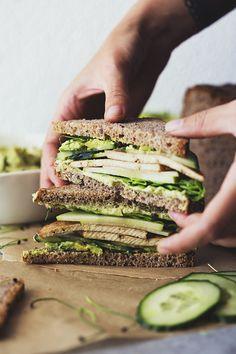 Green sandwiches