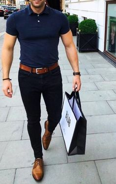 New fashion mens work style guides ideas fashion is part of Polo shirt outfit men - Stylish Mens Outfits, Casual Work Outfits, Classic Outfits, Work Outfit Men, Outfits For Men, Work Casual, Polo Shirt Outfits, Polo Shirt Style, Polo Outfit
