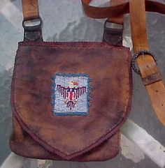 Mountain Man Possibles Bag With Beaded Federal Eagle By Miss Tudy
