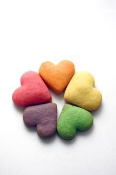 #cookies rainbow of hearts