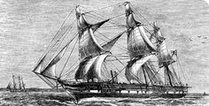 DEC.21, 1872:  HMS Challenger sailed from Portsmouth, England to undertake the first global oceanographic research expedition in history, a voyage which lasted for 4 years. and produced much scientific information.  image:  Engraved view of HMS Challenger (1872-1876)