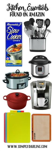 These are some of my favorite kitchen essentials, and they are all easily available via Amazon to ship straight to your home. New Home Essentials, Kitchen Essentials, Kitchen Gadgets, Kitchen Appliances, Kitchen Counters, Amazon Home Decor, Kitchen Necessities, Amazon Beauty Products, Kitchen Collection