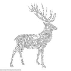 This image of striking stag was created by the Welsh designer out of detailed fauna line d...