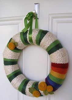 Precocious Paper: St. Patrick's Day Wreath...I did a larger cluster of roses and it was gorgeous!