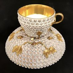 MEISSEN SNOWBALL CUP AND SAUCER