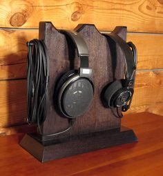 Wood Headphone Stands -- H.A.L. Woodworking