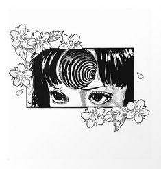 Uzumaki by junji Ito Arte Horror, Horror Art, Aesthetic Anime, Aesthetic Art, Manga Art, Anime Art, Japanese Horror, Junji Ito, Arte Obscura