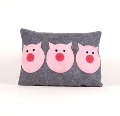Three Little Pigs Pillow Cover by ekofabrik on Etsy