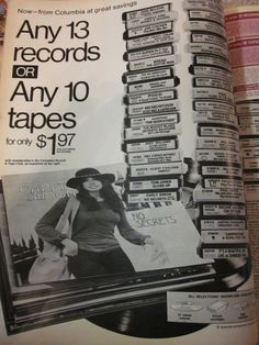 1973 Columbia House Record & 8-track Tape Club