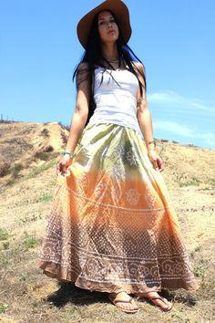 Shibori Vintage Indian Maxi Skirt – Honeywood