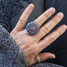 Crochet Rings, Diy Crochet, Magic Circle, Diy Rings, Druzy Ring, Class Ring, Etsy Shop, Jewelry, Gifts For Women