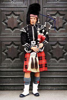 #edinburgh #scotland #capital #city #'traditional #music #bagpipe #Scottish #clan #skirt Edinburgh Scotland, Capital City, Frames, Punk, In This Moment, Traditional, Music, Skirts, Style