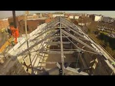 Redevelopment of former St Luke's Church St Luke's Avenue / Newmarket Dublin 8 Structure and Roof - Installation of Suspended Floors March / April 2017 Roof Installation, Warehouses, Dublin, Irish, Commercial, Steel, Website, Business, Simple