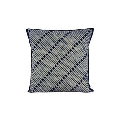 NOVICA 24x24 Inch Blue Cotton Batik Cushion Cover from Thailand featuring polyvore, home, home decor, throw pillows, blue, cushion covers, pillows & throws, blue toss pillows, blue accent pillows, blue home accessories, novica and blue home decor