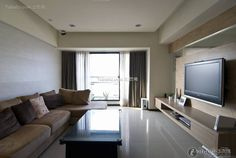 Modern living room decoration example