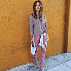 Laid-back in floral @Armani Exchange jeans and sweater! #Padgram