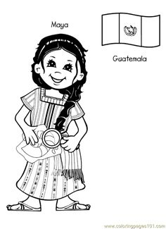 free printable coloring page kids from around the world 007 cartoons