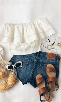 5b181a568e Womens Denim Overalls, Denim Shorts, Cute Summer Outfits, Cute Outfits,  Summer Fashion