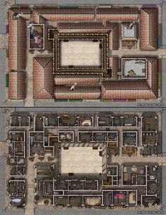 Urban City The Bifrond Bazaar 2 Level Covered Market story lg Fantasy City, Fantasy Map, Dnd World Map, Pathfinder Maps, Building Map, Rpg Map, Dungeon Maps, Dungeons And Dragons Homebrew, Fantasy Setting