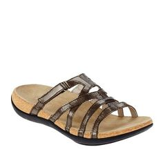 ecddd9c72a12 Spenco Women s Roman Orthotic Slide Sandals - Dark Taupe