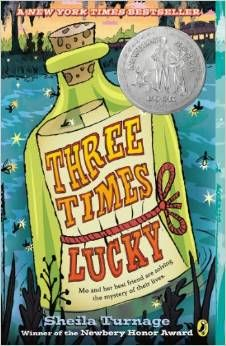 Three Times Lucky by Sheila Turnage -- mystery in the Deep South -- love the characters