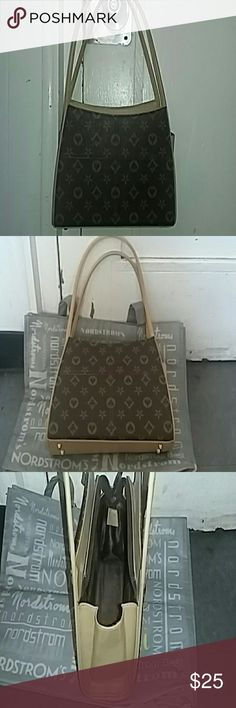"""Purse """"Louis inspired"""" handbag. Manufacturers label is absent. Leather is beautiful. Stitching is on par with any medium priced designer bag. Metal feet are a bit worn/tarnished. But hey... price is right. unknown  Bags Shoulder Bags"""