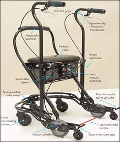 U-Step Walker 2 - Parkinson's Walking Stabilizer Adaptive Equipment, Occupational Therapist, Sleep Apnea, Home Health, Multiple Sclerosis, Walk In Shower, Physical Therapy, Canning, Parkinson's Disease