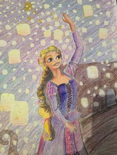 Rapunzel drawing from 8th grade