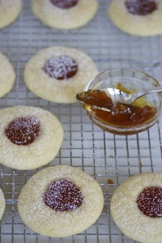 Mascarpone Fig Jam Cookies - You can create these lovely cookies with any of your favorite jams or preserves.  In the past, I've replaced the vanilla extract with almond extract and filled with raspberry jam.  If you want to get fancy, a center dollop of chocolate ganache would be absolutely perfect!