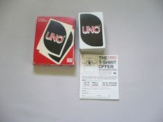 1979 UNO Cards - COMPLETE w/Instructions #InternationalGamesInc Uno Card Game, Uno Cards, Card Games, International Games, Vintage Cards, T Shirt, Ebay, Supreme T Shirt, Tee Shirt