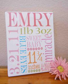 Baby birth announcement...