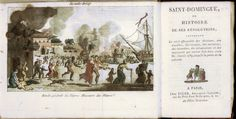 Anon., Saint-Domingue, ou histoire de ses revolutions . . . (Paris, 1815) Illustration shows whites fleeing Cap Francais in St. Domingue, as the slave rebellion of 1793 intensified.