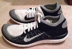 9f3ab14ba79b WMNS NIKE FREE FLYKNIT 4.0 Size 7.5 BLK White WOMEN RUNNING SNEAKER  Nike   RUNNINGSHOES