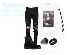 """Untitled #301"" by random-sidewalk on Polyvore featuring AMIRI, Lugz, Serge DeNîmes, SteelTime, men's fashion and menswear"