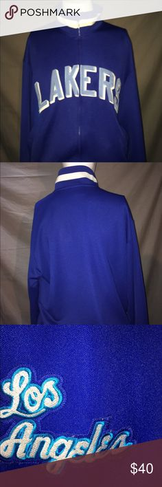 Old school Lakers warm-up Great condition. Gently worn . Great for an lakers fan... measures 22 inches pit to pit.. size large. No rips, holes or stains. NBA Jackets & Coats