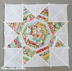 Kaleidoscope Star String Block | FaveQuilts.com - I am absolutely making this quilt.