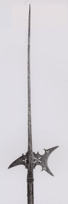 Italian  Bill (Ronca), 1500/1600  Steel, wood (chestnut), brass [modern staff] Blade with socket L. 69.8 cm (27 1/2 in.) Wt. 4 lb. 8 oz.