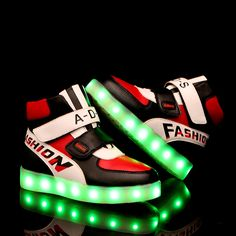 e16fab5490 Aliexpress.com : Buy 2016 Fashion High QualityPU Famous Brand Children LED  Shoes with Light