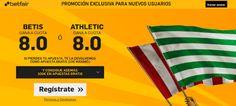el forero jrvm y todos los bonos de deportes: betfair Betis o Athletic supercuota 8 Liga 1 novie...