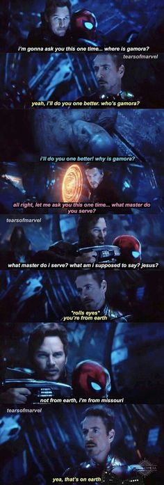 Sad part is Star Lord is so use to calling Earth Tera